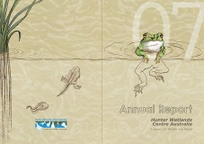 Financial Report cover design for Hunter Wetlands Centre