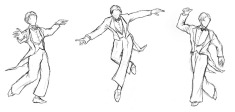 Astaire - movement sketches