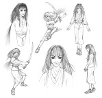 Tomoe - character sketches